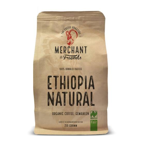 Merchant&Friends BIO Ethiopia Natural szemes kávé, 250g