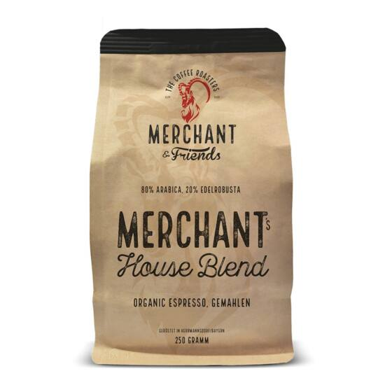 Merchant&Friends BIO House Blend szemes kávé, 250g